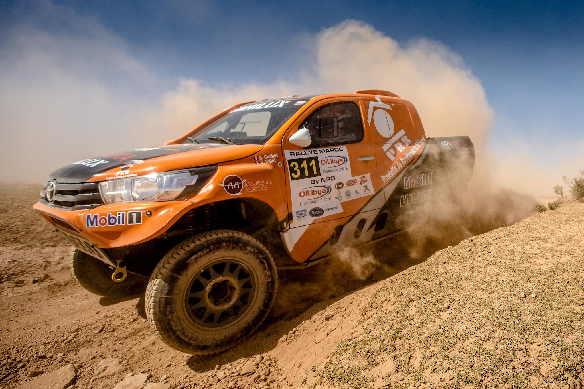 05 21 2018 Toyota Hilux Problems After Retiring From The Italian Baja Last Year And Then Being Forced To Fight Back Early Finish 30th Overall In Rally Of Morocco
